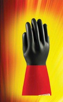 دستکش صنعتی تکنیک کار دو رنگ